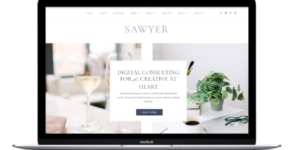 Sawyer Divi Business Coaching Theme on Divi Cake