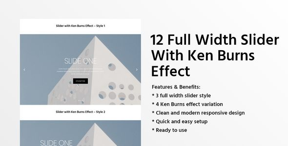 12 Full Width Slider With Ken Burns Effect on Divi Cake