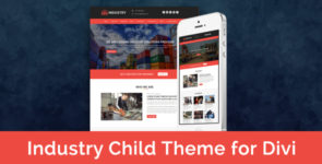 Industry – Child Theme for Divi on Divi Cake