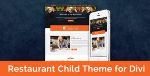 Restaurant – Child Theme for Divi on Divi Cake
