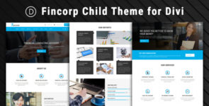 Fincorp – Child Theme for Divi on Divi Cake