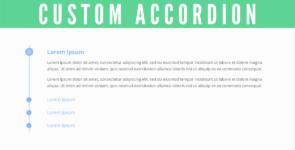 Custom Accordion on Divi Cake
