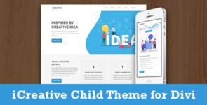 iCreative – Divi Child Theme on Divi Cake