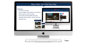 Blog-A-Holic: Divi Child Theme for Blogs on Divi Cake