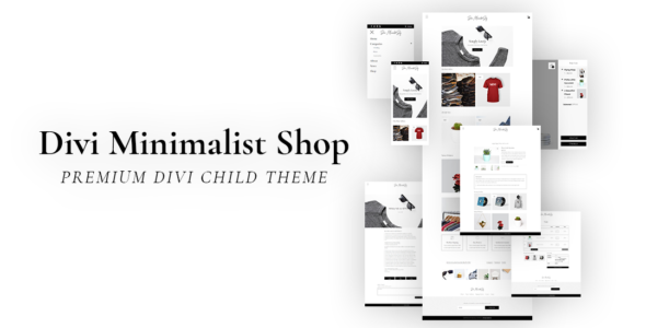 Divi Minimalist Shop on Divi Cake