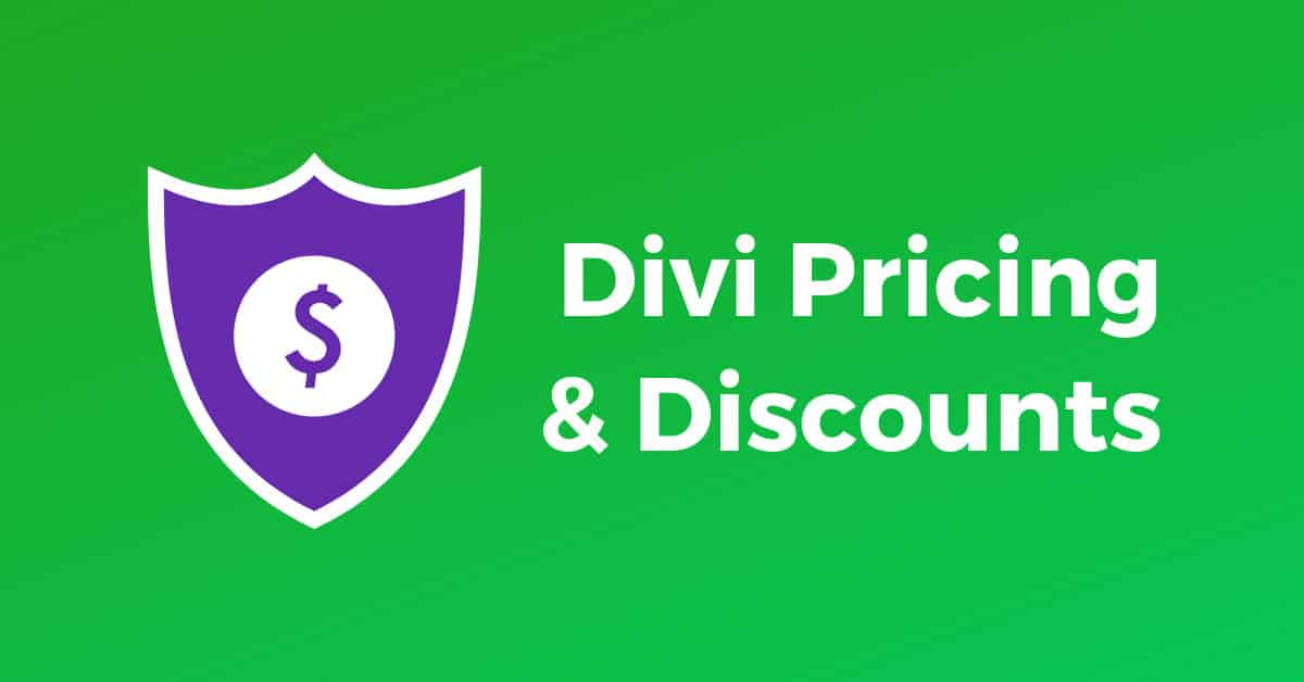 Divi Pricing and Discounts