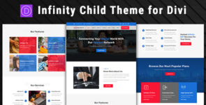 Infinity – Telecom & Broadband Divi Child Theme on Divi Cake