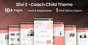 E-Coach Blogging & Coaching Divi Child Theme on Divi Cake