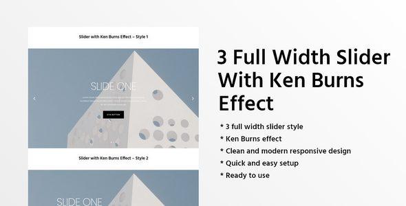 3 Full Width Slider With Ken Burns Effect on Divi Cake