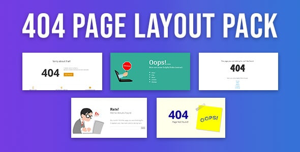 404 page layout pack premium divi layout divi cake