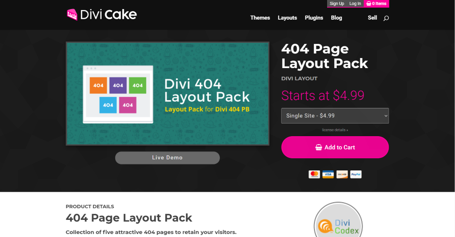 404 Page Layout Pack
