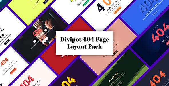 Divi 404 Error Page Layout Pack on Divi Cake