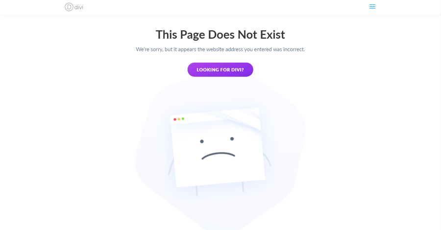 404 page result