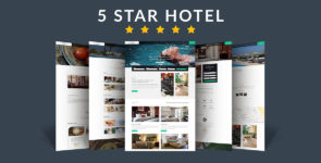 5 Star Hotel / Bed & Breakfast on Divi Cake