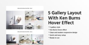 5 Gallery Layout With Ken Burns Hover Effect on Divi Cake