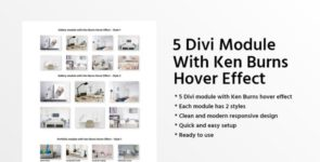 5 Divi Module With Ken Burns Hover Effect on Divi Cake