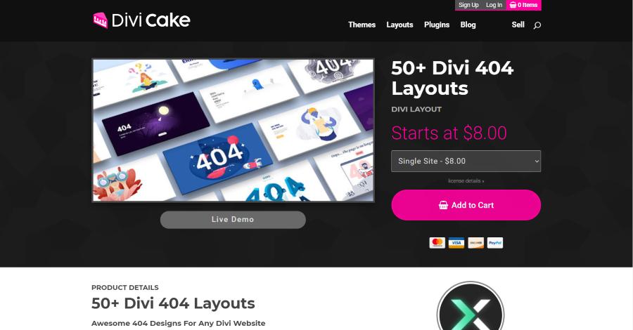 50+ Divi 404 Layouts