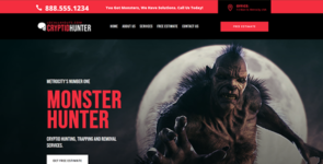 Local Cryptid Hunter Layout (or other Services Business) on Divi Cake
