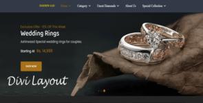 Jewelry web template on Divi Cake