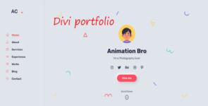 AC – Portfolio/CV/Resume on Divi Cake