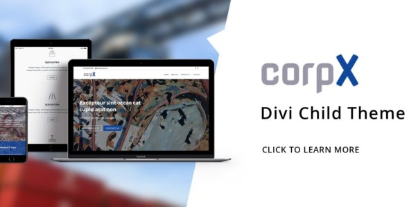 CorpX – Divi Child Theme on Divi Cake