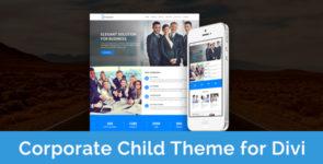 Corporate – Child Theme for Divi on Divi Cake