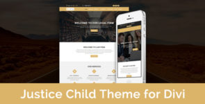 Justice – Child Theme for Divi on Divi Cake