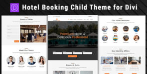 Hotel Booking – Divi Child Theme on Divi Cake
