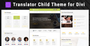 Translator – Child Theme for Divi on Divi Cake