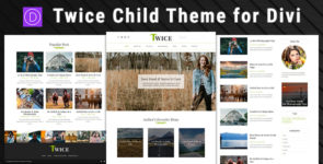 Twice – Child Theme for Divi on Divi Cake