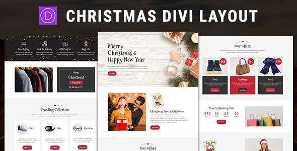 Christmas – Divi Theme Layout on Divi Cake