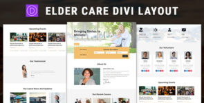 Elder Care – Divi Child Theme Layout on Divi Cake
