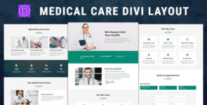 Medical Care – Divi Theme Layout on Divi Cake