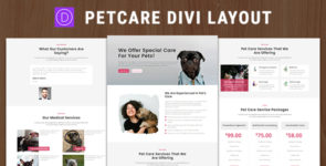 Pet Care – Divi Theme Layout on Divi Cake