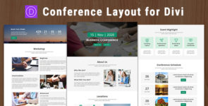 Meeto – Conference Divi Theme Layout on Divi Cake