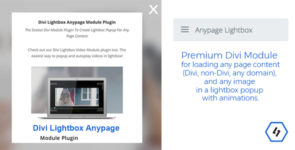 Divi Lightbox Anypage Module on Divi Cake