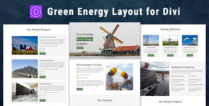 Green Energy – Divi Theme Layout on Divi Cake