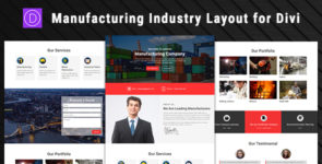 Manufacturing – Industry Divi Layout on Divi Cake