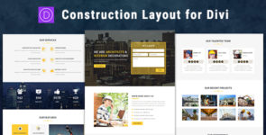 Construction – Divi Theme Layout on Divi Cake