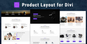 Product Showcase – Divi Theme Layout on Divi Cake