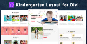 Kindergarten – Divi Theme Layout on Divi Cake