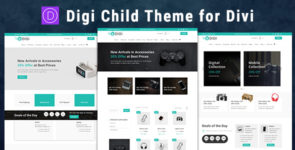 Digi – Child Theme for Divi on Divi Cake