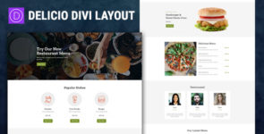 Delicio – Restaurant Divi Layout on Divi Cake