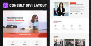 Consultant – Divi Layout on Divi Cake