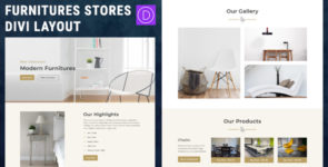 Furniture Store Divi Layout on Divi Cake