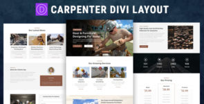 Carpenter Divi Layout on Divi Cake