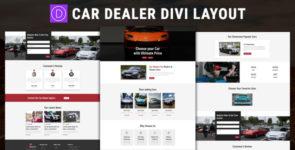 Car Dealer – Divi Layout on Divi Cake