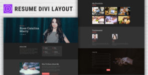 Resume Divi Layout on Divi Cake