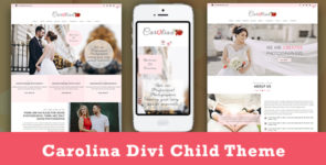 Carolina – Photography Divi Child Theme on Divi Cake