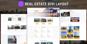 Real Estate Divi Layout on Divi Cake